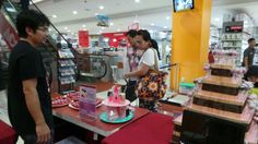 With customers