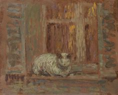 Henri Le Sidaner (French, 1862-1939): Le chat.