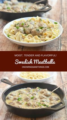 Super moist, tender and flavorful Swedish Meatballs in a delicious cream sauce are the epitome of comfort food. Quick, easy and done in 30 minutes or less, they're perfect for busy weeknights