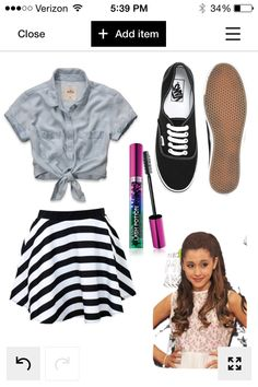 """""""Last day of school"""", wouldn't this be a cute outfit for the last day of school? Love Arianna's hair."""