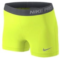 discount 81b84 1345e Shop Women s Nike Yellow Gray size S Shorts at a discounted price at  Poshmark. Description  NWOT NEVER WORN NEON YELLOW Nike pro compression  shorts Womens ...
