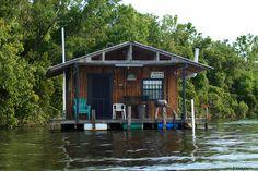 Bayou fishing cabin