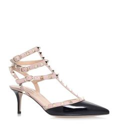 Valentino Rockstud 65 Patent Pump in black multi available to buy at Harrods. Shop designer women's shoes online & earn reward points.
