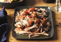 Gourmet Traveller WINE recipe for slow-cooked lamb shoulder with roast vegetables. Garlic Recipes, Lamb Recipes, Wine Recipes, Gourmet Recipes, Cooking Recipes, Bacon Recipes, Party Recipes, Delicious Recipes, Yummy Food