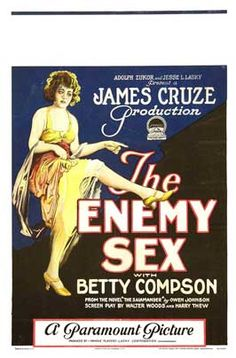 Theatrical poster for the 1924 silent film The Enemy Sex.