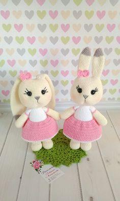 Mesmerizing Crochet an Amigurumi Rabbit Ideas. Lovely Crochet an Amigurumi Rabbit Ideas. Bunny Crochet, Crochet Animal Amigurumi, Crochet Animal Patterns, Easter Crochet, Stuffed Animal Patterns, Cute Crochet, Amigurumi Doll, Crochet Animals, Crochet Dolls