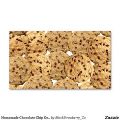 Cookie business cards 2400 cookie business card templates cute homemade chocolate chip cookies business card colourmoves