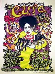 Band: The Cure  - Artist: Michael Michael Motorcycle