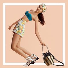 Citrus, sandals and vachetta bags!