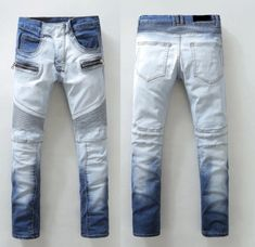 Premium Bleached Biker Jeans