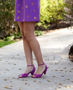 shannon hearts: Look Book: Spring Pansy featuring our TURNING POINT mid heels