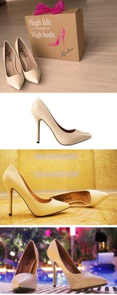 High heels classic pumps  brand: High life is only possible on High heels  www.facebook.com/highlifehighheels  http://www.ebay.pl/itm/251466116926?ssPageName=STRK:MESELX:IT&_trksid=p3984.m1555.l2649  http://allegro.pl/oryginalne-buty-szpilki-szpic-czolenka-hit-i4026615614.html