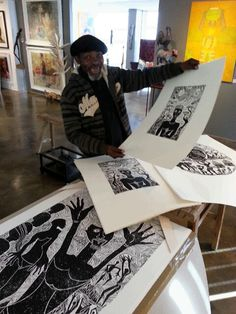 David Phoshoko delights at his new ARTEYE LTD EDITION woodcut prints. Now signed and available ( small editions )