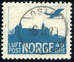 Norway 45ø air mail 1927 (first printing) [Mi:136 I]
