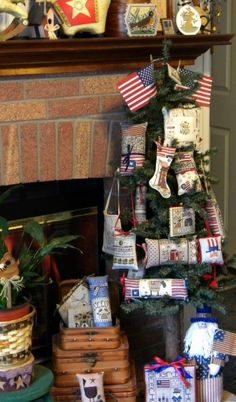 Becky Bee's Stitching Hive: Stocking and Patriotic Tree :) Cross Stitch Tree, Cross Stitch Patterns, Christmas Crafts, Christmas Ornaments, Christmas Ideas, Christmas Tree, Charlie Brown Tree, Let Freedom Ring, Cross Stitch Finishing