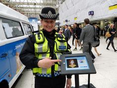 Create your own Avatar on our #CareerMOT app! As demonstrated by this lovely Police Officer who visited us at Waterloo Station in London. Pinned via our Pitman Training Flickr account