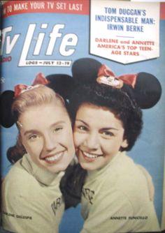 *DARLENE & ANNETTE ~ TV-Radio Life Jul 13-19, 1956.