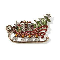 "Heidi Daus ""Dazzling Through the Snow"" Crystal Pin"