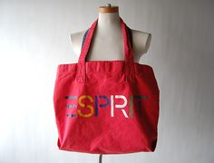 esprit from the 80s - I always wanted one of these bags.  Kids would carry their books or trapper keepers in them to school... :)
