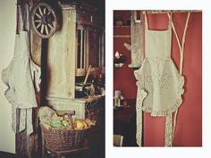 linen kitchen apron #alworek #linen