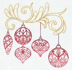 Delicate December - Ornaments design (UT7259) from UrbanThreads.com
