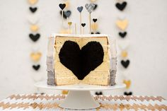 Black Heart Cake | Garlic, My Soul - What to feed your honey on Valentine's Day, plus a sneak peek of our black heart cake!