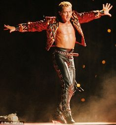 In his prime: Michael Flatley devised his dance extravaganza for Eurovision and went on to become a worldwide phenomenon.