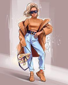 Fashion Artwork, Fashion Design Drawings, Fashion Sketches, Fashion Prints, Girly Drawings, Girl Drawing Sketches, Girly M, Fashion Illustration Dresses, Girl Cartoon