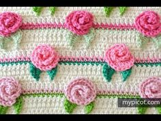 How to crochet Rosebud Stitch / My My Picot Pattern (Written instruction...