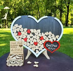 Wedding Guest Book Acrylic Heart Shaped Guestbook Hearts Drop Box Alternative Guestbook Anniversary Guest Book Couple Gifts Wedding Sign