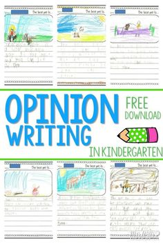 Writing Opinions in Kindergarten.  This classroom activity helps students discuss and write their opinions.  There is also a free file included.