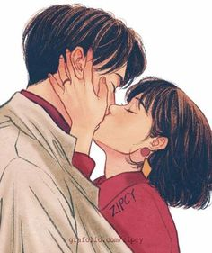 After being around Elias a lot, Kira begins to pick up on his feelings for he. Couple Amour Anime, Anime Love Couple, Cute Anime Couples, Image Couple, Cute Couple Art, Art Anime, Anime Art Girl, Anime Kiss, Aesthetic Art