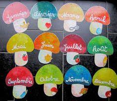 Bildergebnis für activités sur les champignons en maternelle Creative Class, French Classroom, School, Birthday, Blog, Stage, Chart, New School Year, Crafts For Children
