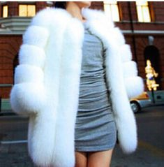 Queen Devin Faux Fur Coat - (more colors) (XS-3XL) — Pink Plastic White Fur Coat, Fox Fur Coat, Long Parka, Blue Coats, Warm Coat, Faux Fur, Winter Jackets, Pink Plastic, Winter Fashion