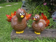 Painted Gourd Thanksgiving Turkey Table Centerpiece