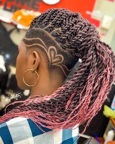 Short Locs Hairstyles, Shaved Side Hairstyles, Cool Hairstyles, Natural Hair Cuts, Natural Hair Styles, Long Hair Styles, Fade Haircut Designs, Hair Designs For Men, Dread Braids