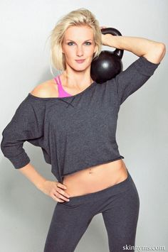 Take the Killer Kettlebell Workout Challenge. Using kettlebells gives you an a great workout;)!!