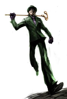 Riddler by naratani on DeviantArt Riddler Gotham, Gotham Villains, Comic Villains, The Riddler, Game Character Design, Comic Character, Le Sphinx, Full Sleeve Tattoo Design, Robin Dc