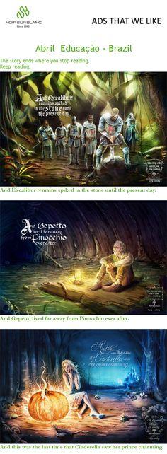 PUBlicité The story ends where you stop reading. Keep reading. - Abril Educação - Brazil
