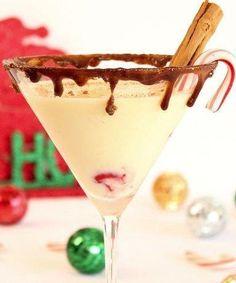 Italian Eggnog Martini Recipe ~ a delicious holiday martini recipe, a twist on eggnog.