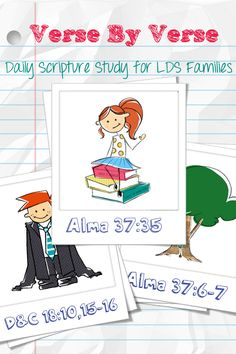 Last week I was contacted by Brooke from Verse by Verse: Daily Scripture Study for LDS families and Kids . She had just fin. Family Scripture, Scripture Reading, Scripture Study, Scripture Journal, Visiting Teaching, Teaching Kids, Lds Church, Church Ideas, Fhe Lessons