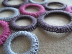 necklace circles wool