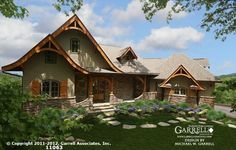 Hot Springs Cottage House Plan # 11063, Mountain House Plans, Craftsman House Plans