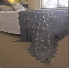 I love this idea. Dye grandma's old crochet bedspread or table cloth.  Instant update!  #homedecor #bedrooms