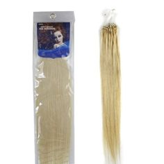"""20"""" Loop Micro Ring Beads Tipped Remy Human Hair Extensions 100s 613 Light Blonde for Women's Beauty Hairsalon in Fashion by lilu. $36.00. Can be curled, straightened, tongued & washed. Adds instant length and volume. Kindly Remind ,this is US registered certified Brand, we have not authorized another seller to sell it ,all items Quality Box Packaging as  pictures show .solely sold by AMERICA LADDER INTERNATIONAL CO.,LTD. long Asian soft Silky straight 100% human hair. We gua..."""