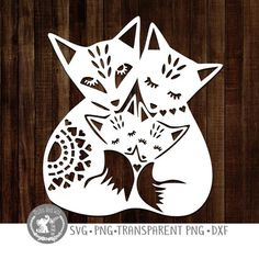 Fox family SVG PNG DXF digital cutting file/folk style fox svg/fox svg/fox mandala/woodland animal s Vinyl Projects, Diy Craft Projects, Art Activities For Toddlers, Fox Decor, Wood Carving Patterns, Cut Image, Folk Fashion, Paper Stars, Woodland Animals