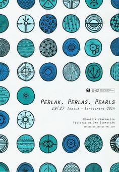 Festival de San Sebastián :: Concurso de carteles :: 40 perlas by Rocío Labrador Agudo