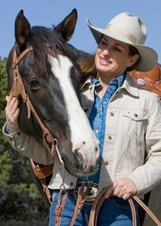 Julie Goodnight on the Connection Women Have with Horses nice article     ( ~ Love her hat..... CalamityVille Wild West )