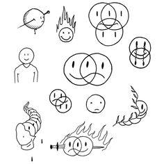 Kritzelei Tattoo, Grunge Tattoo, Doodle Tattoo, Little Tattoos, Mini Tattoos, Small Tattoos, Mini Drawings, Easy Drawings, Tattoo Sketches