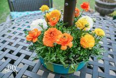 Patio Umbrella Table Planter/Centerpiece